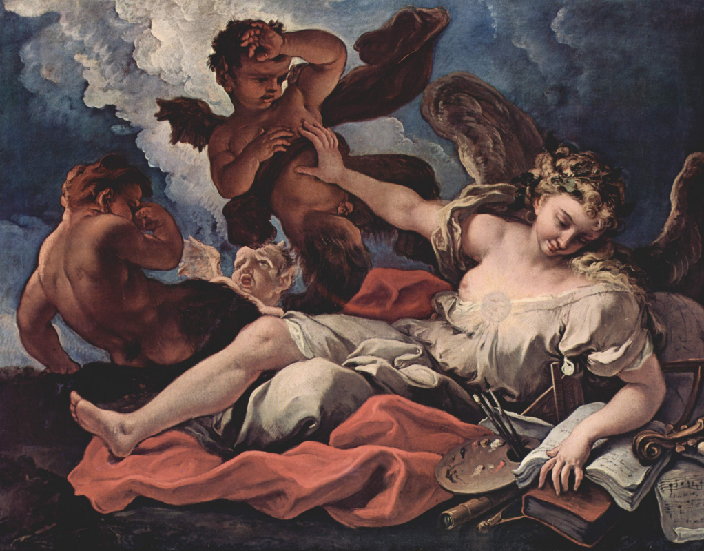 Себастьяно Риччи. Аллегория искусств