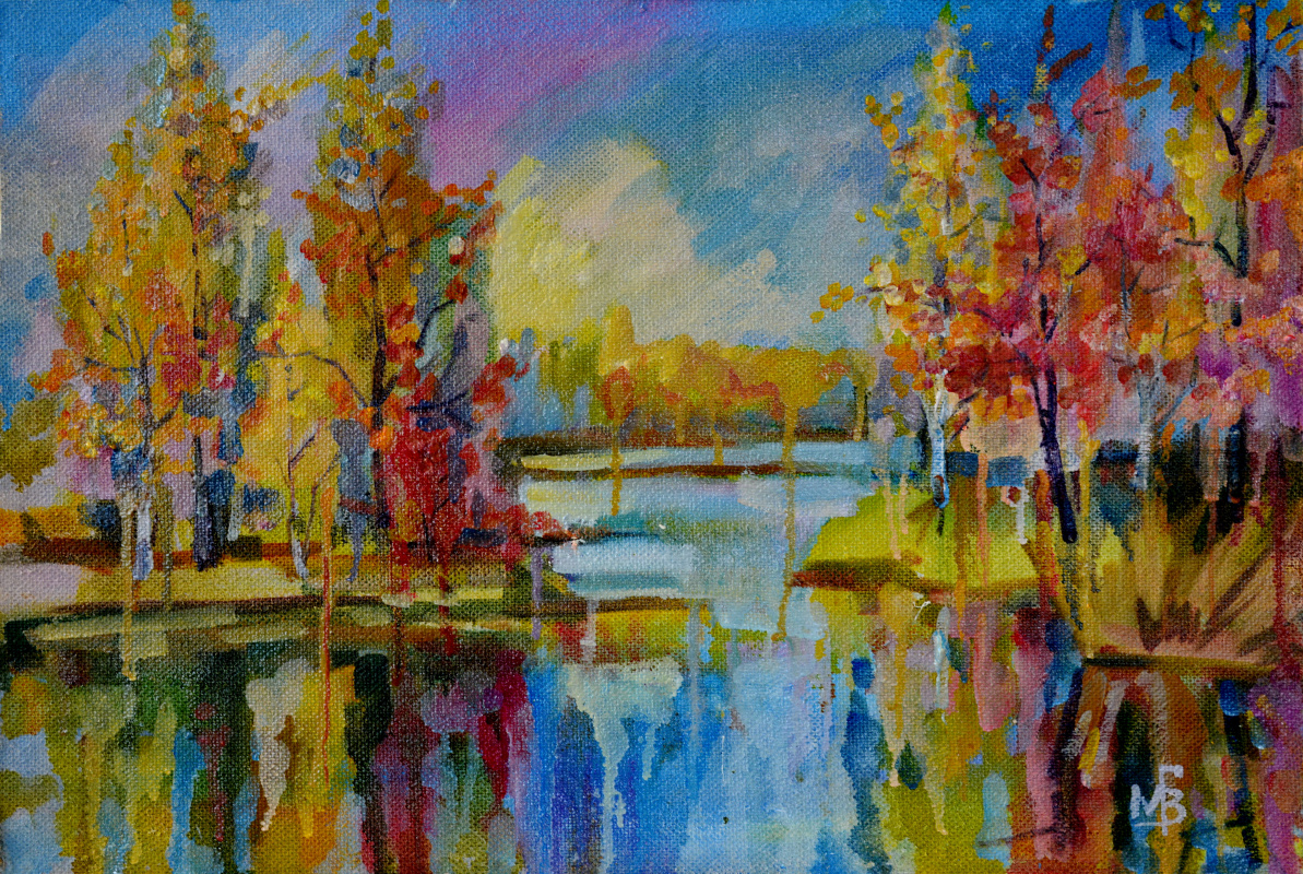 Vyacheslav Grigorevich Milov. Colors of autumn