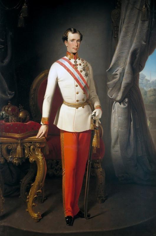 Francesco Ayets. Portrait of Franz Joseph I, Emperor of Austria