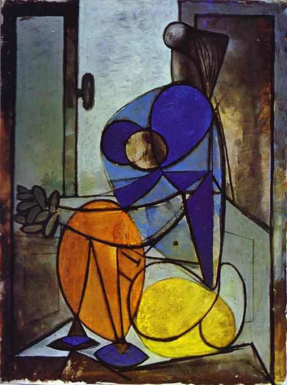 Пабло Пикассо. Молодая девушка в кресле