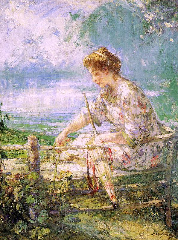 Лилиан Матильда Гентх. Женщина с зонтом в жаркий день
