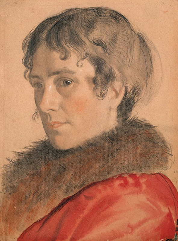 Борис Михайлович Кустодиев. Портрет Ю.Е. Кустодиевой