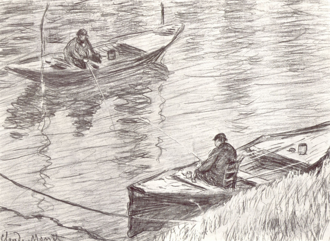 Клод Моне. Два рыбака