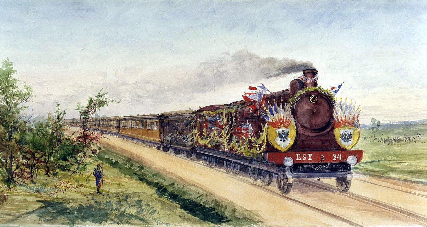 Павел Яковлевич Пясецкий. Президентский поезд на пути из Дюнкерка в Компьень