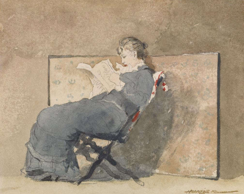 Winslow Homer. Girl reading