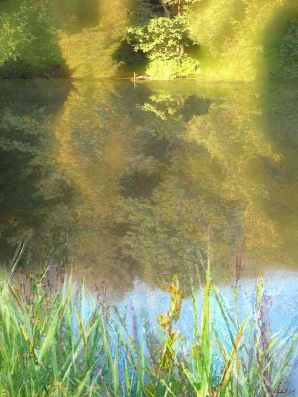 Alexander Ivanovich Vlasyuk. Pond