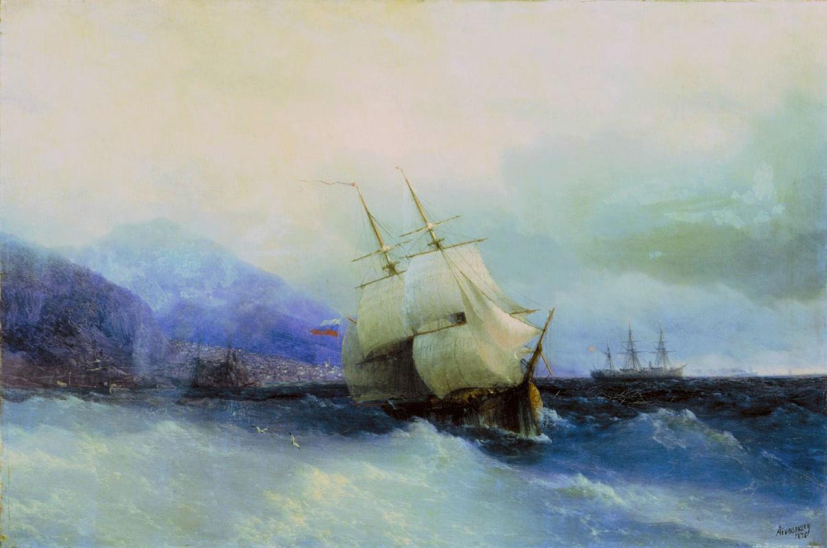 Ivan Aivazovsky. Trebizond from the sea