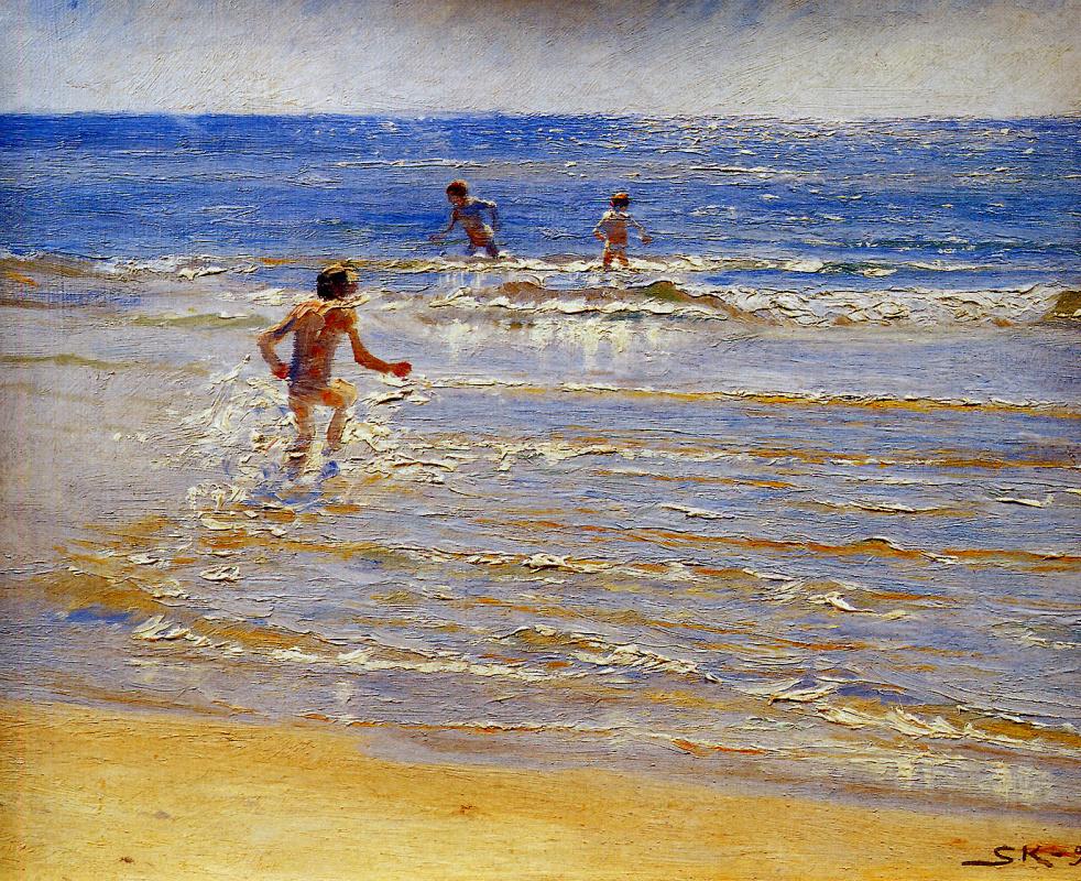 Peder Severin Krøyer. Floating children