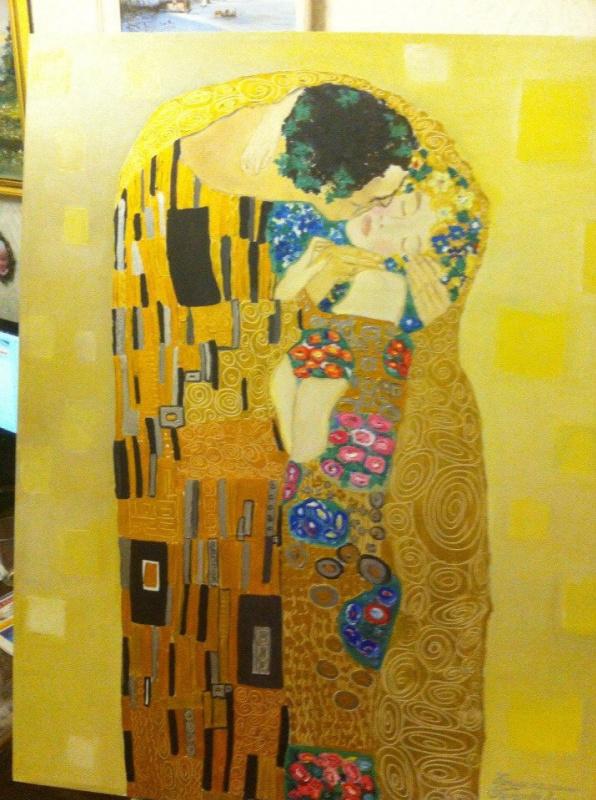 Galina Nikolaevna Silina. Copy of the painting of Gustav Klimt,the KISS,,