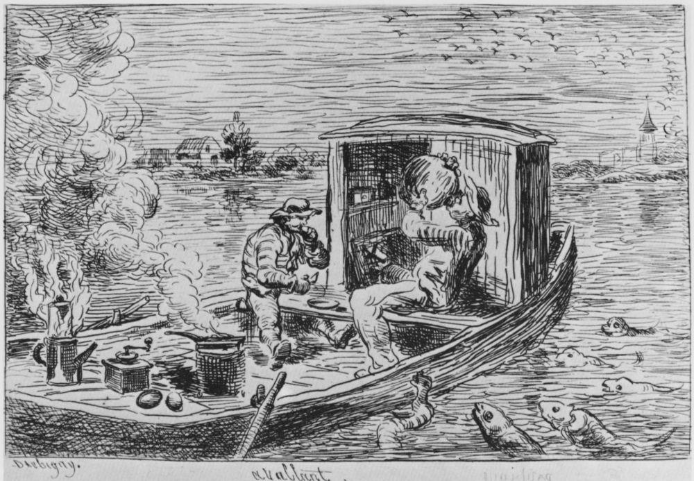 Charles-Francois Daubigny. Hungry