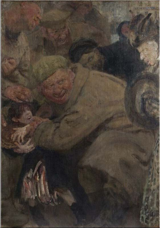 Ilya Efimovich Repin. The Bolsheviks (red Army, consuming the bread of the child)