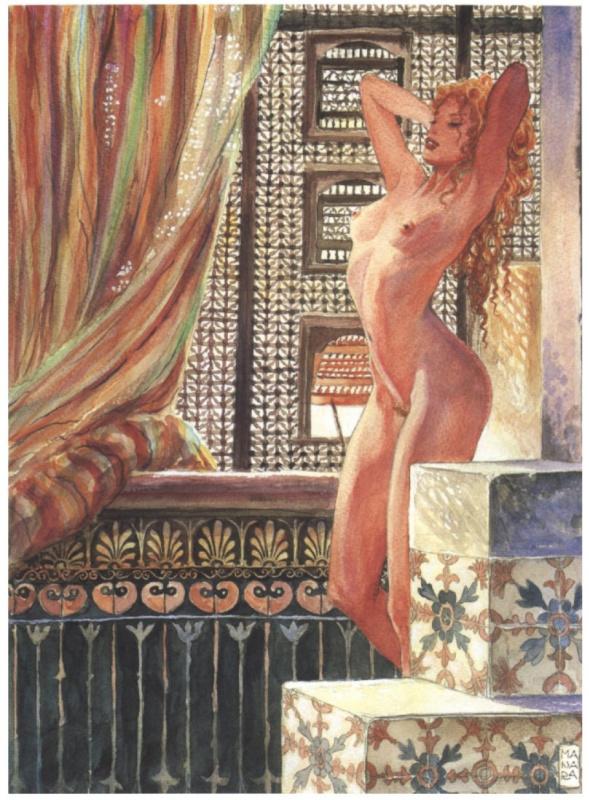 Мило Манара. Обнаженная девушка у окна