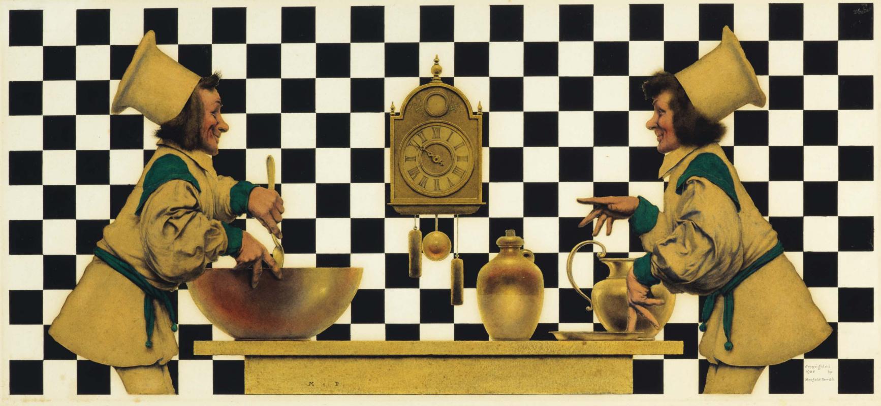 """Максфилд Пэрриш. """"Валет червей"""". Шахматный стол"""