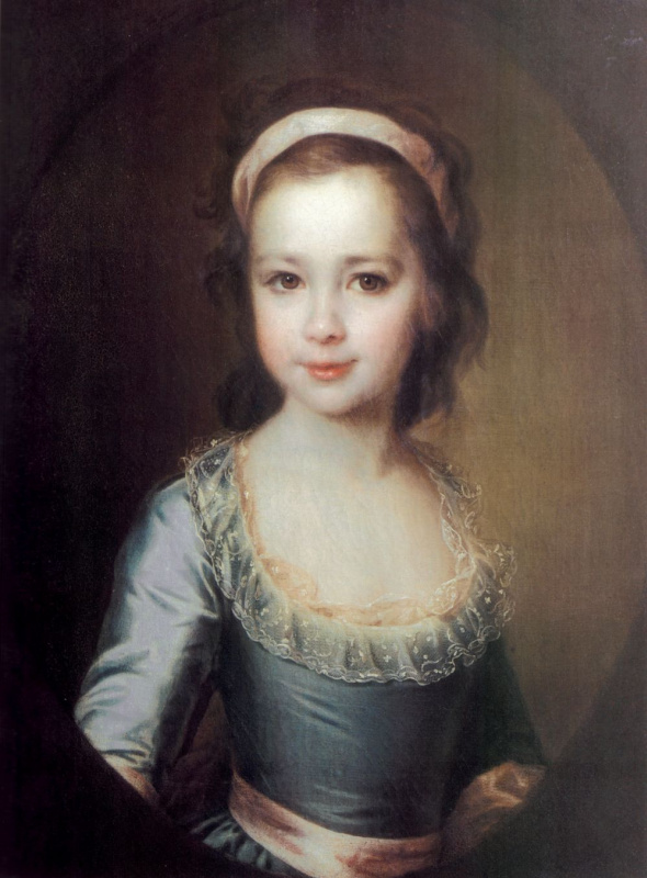 Dmitry Grigorievich Levitsky. Portrait of Anna Artemievna Vorontsova in childhood