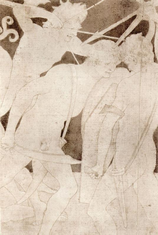 Антонио Поллайоло. Сражающиеся обнаженные