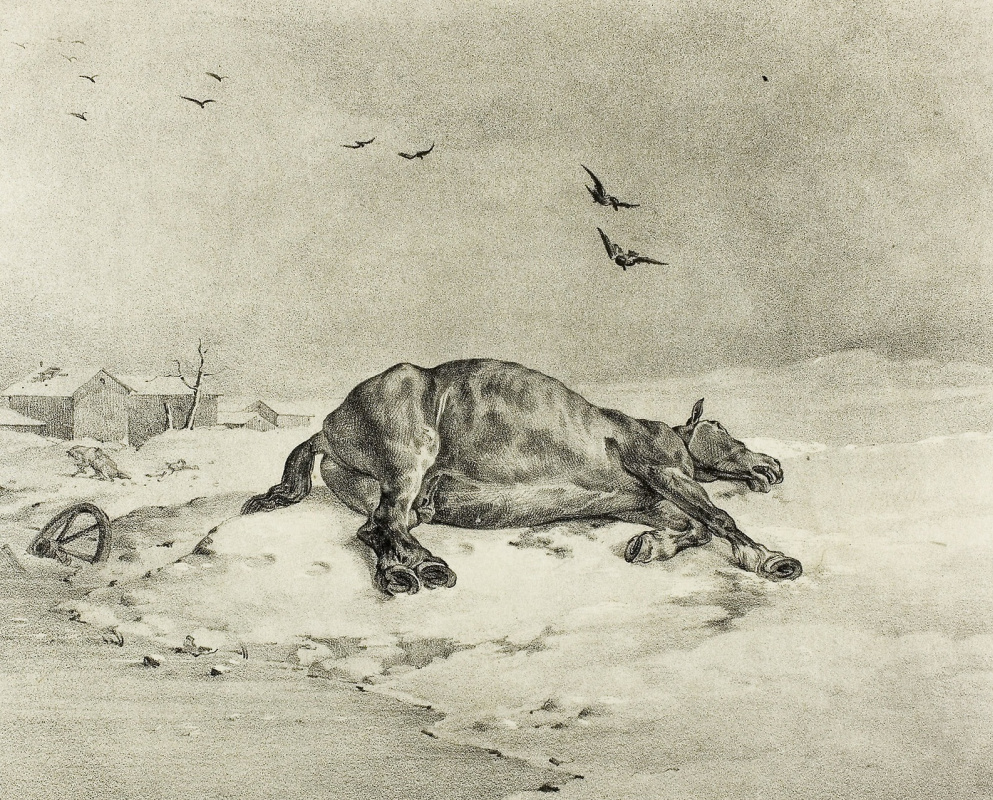 Théodore Géricault. Dead horse