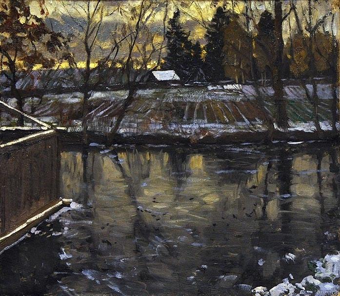 Stanislav Yulianovich Zhukovsky. River bath (Cloudy day II)