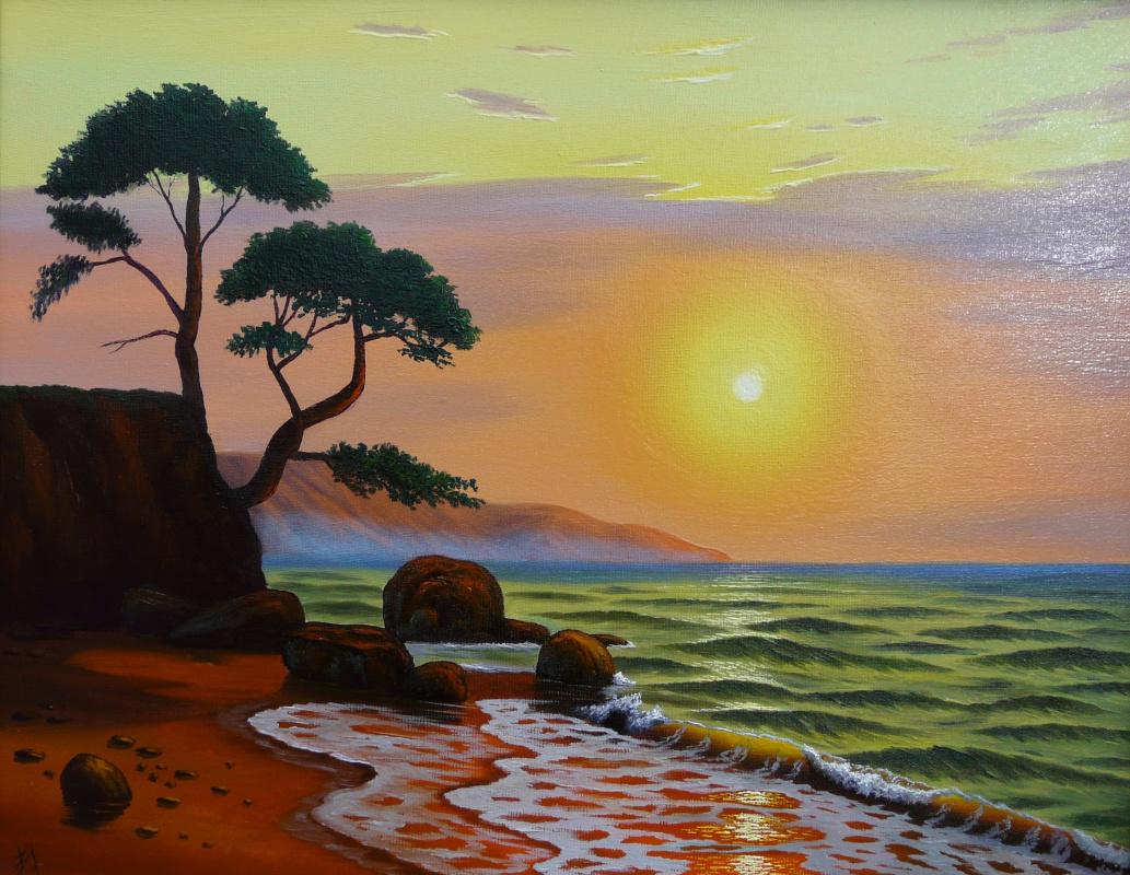 Sergey Begansky. Dawn on the island