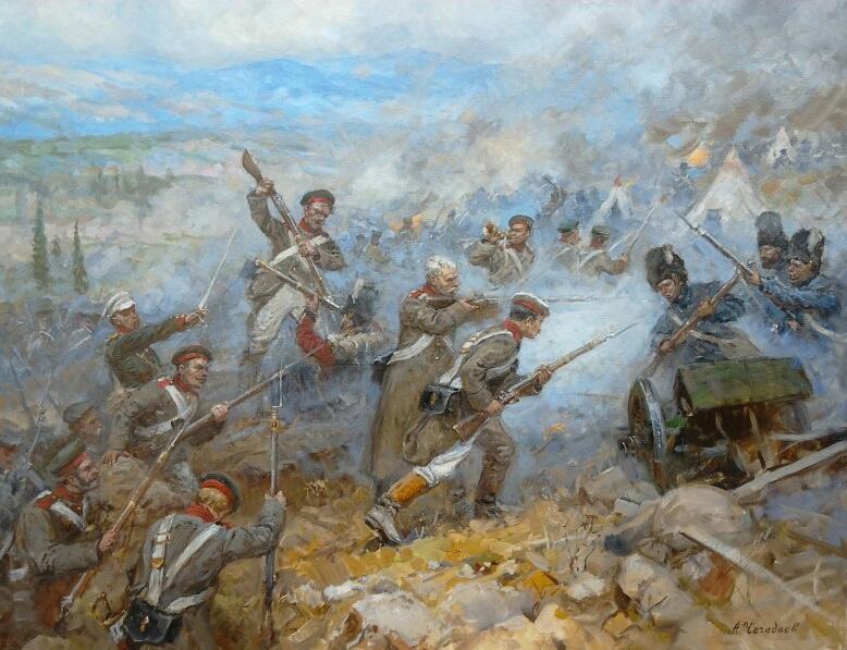 Aleksandr Chagadaev. Inkerman battle. Crimean War