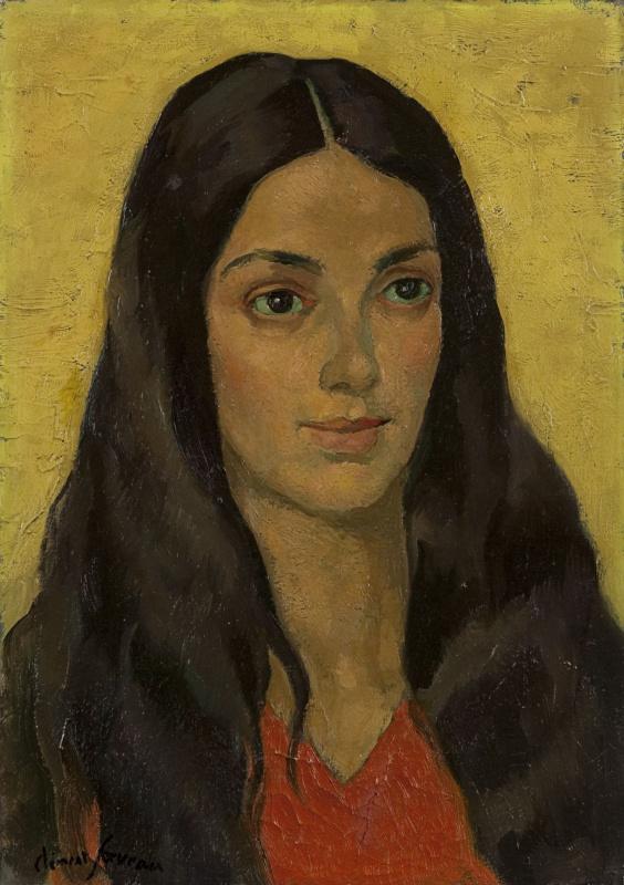 Анри Клеман-Серво. Женский портрет