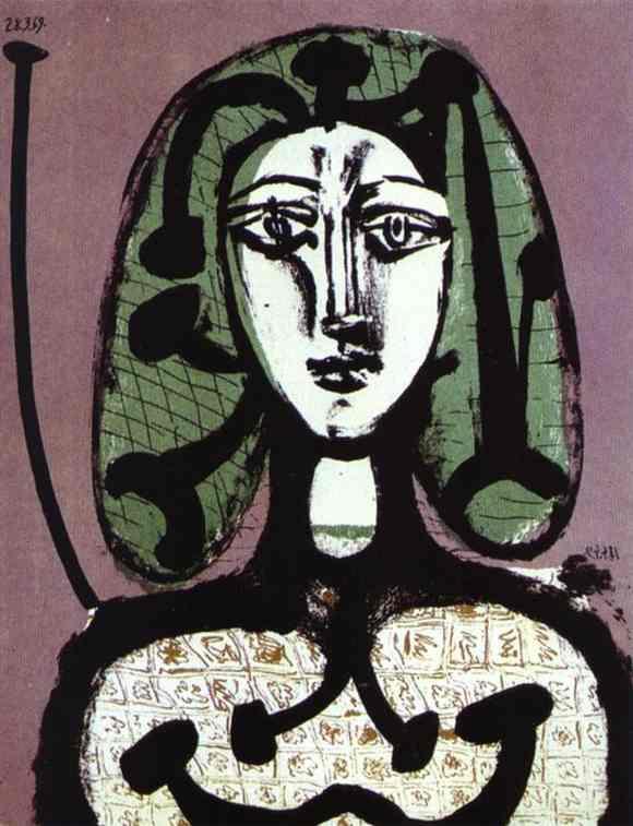 Пабло Пикассо. Женщина с зелеными волосами