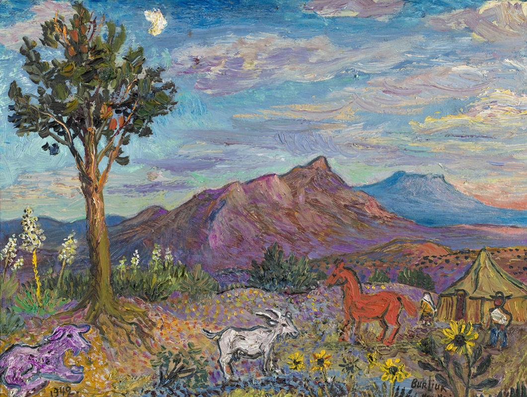 Давид Давидович Бурлюк. Пейзаж в Нью-Мексико