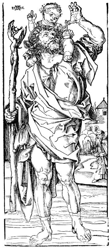 Albrecht Durer. Saint Christopher