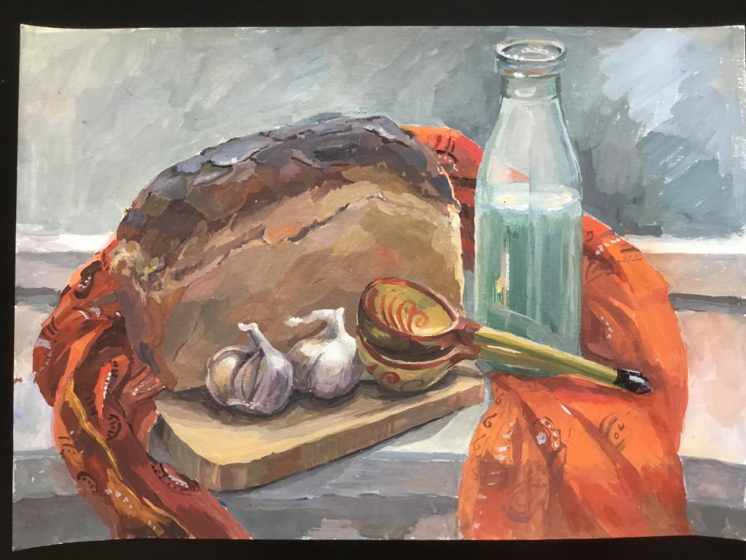 Vladimir Petrov. Still life with bread