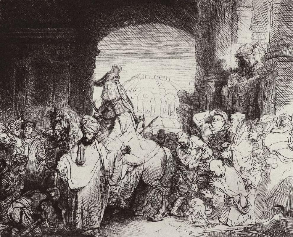 Рембрандт Ван Рейн. Триумф Мардохея