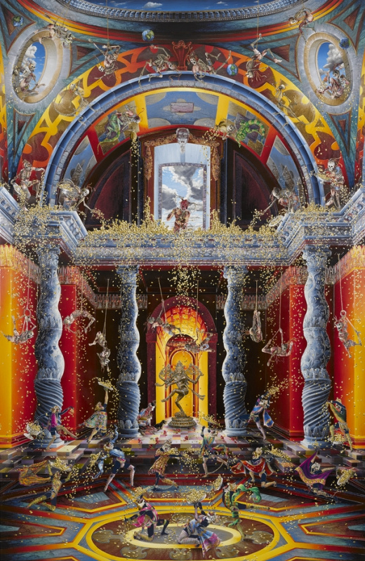 Rakib Shaw. The expulsion from the Temple (inspired by Venusti) II