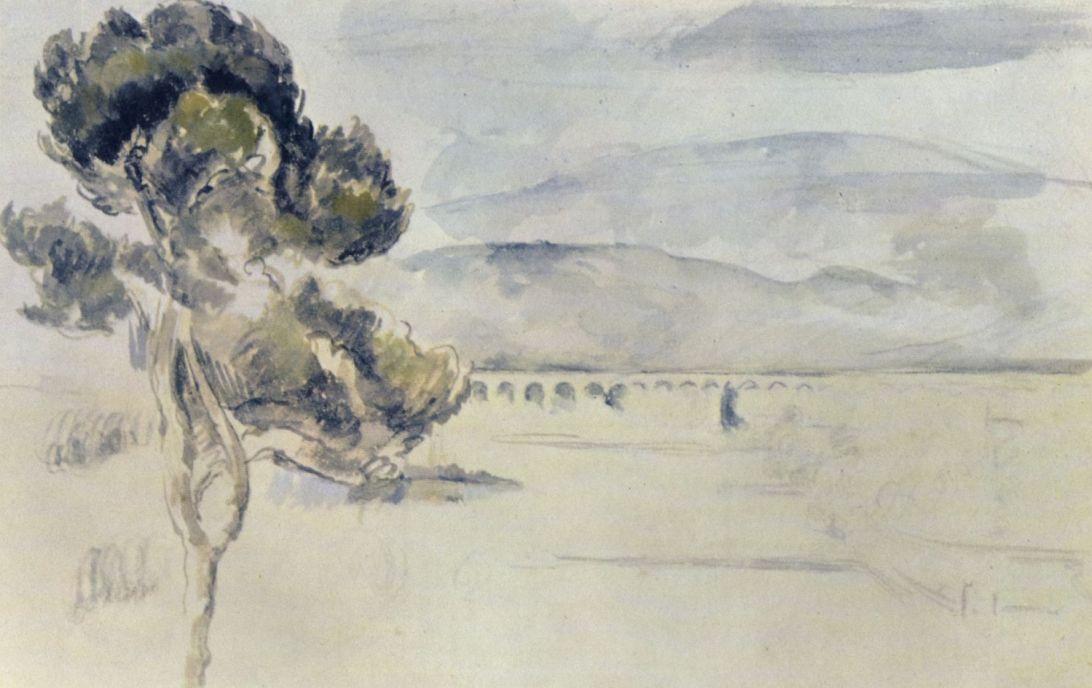 Поль Сезанн. Вид на долину с железнодорожным мостом