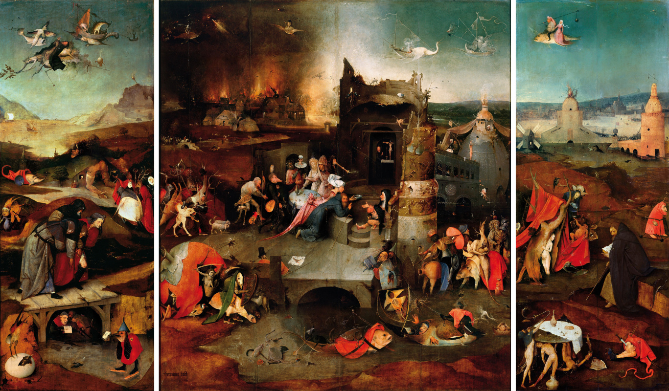 Hieronymus Bosch. The temptation of St. Anthony. Triptych