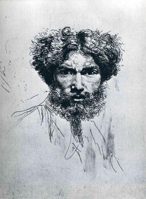 Джон Август. Мужской портрет