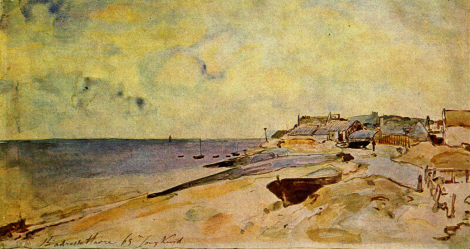Ian Bartold Jongkind. Coast in Saint Adresse