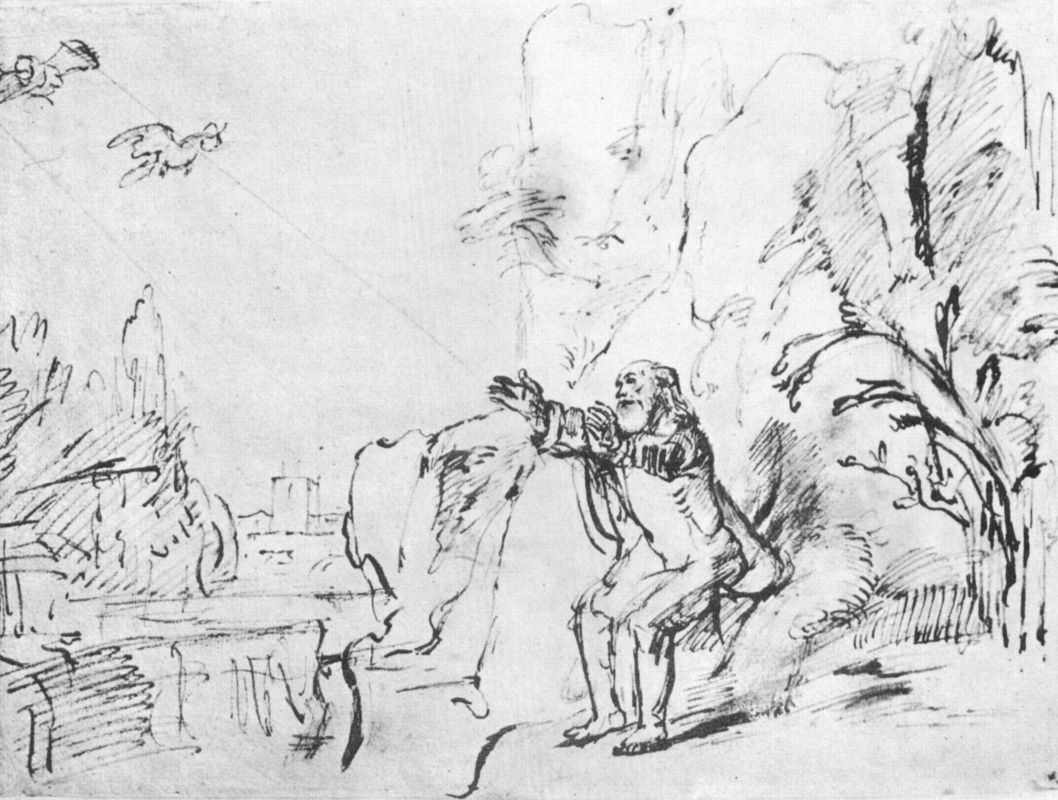 Рембрандт Харменс ван Рейн. Ворон кормит Илию