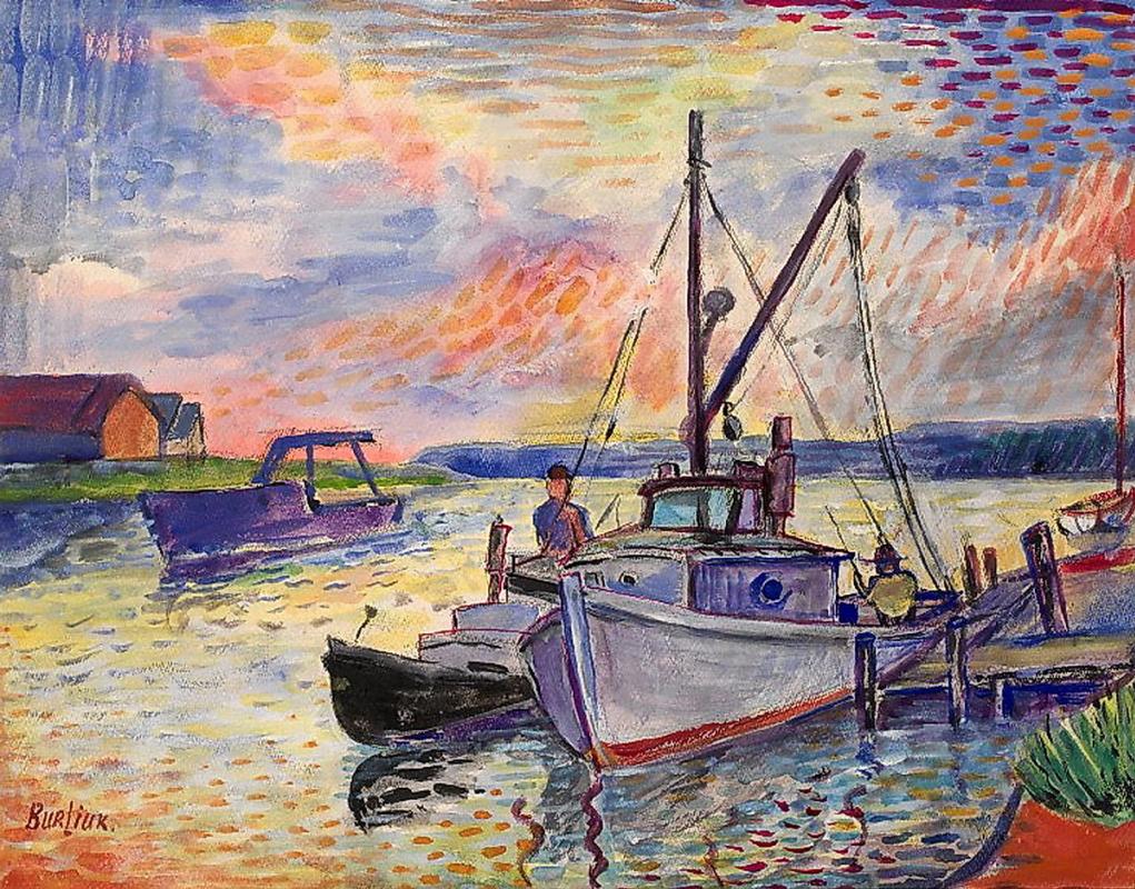 Давид Давидович Бурлюк. Лодки