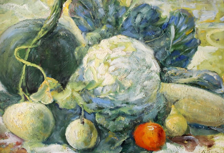 Vasily Fadeevich Demin. Натюрморт с овощами