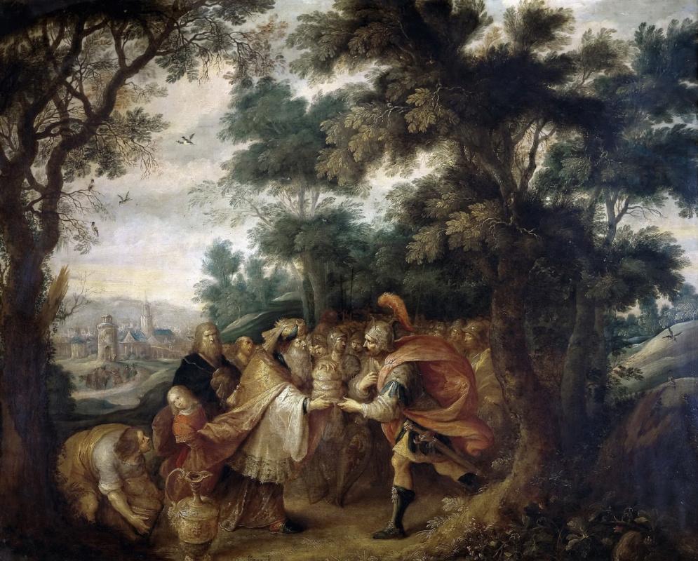 Франс Франкен Младший. Авраам и царь Мелхиседек.