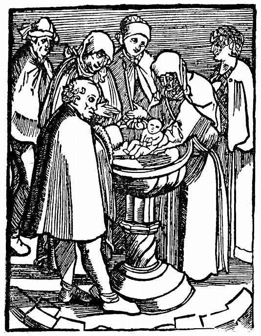 Ханс Бальдунг. Крещение Уленшпигеля
