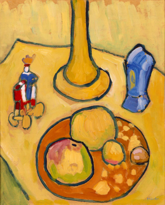 Gabriele Münter. Yellow still life