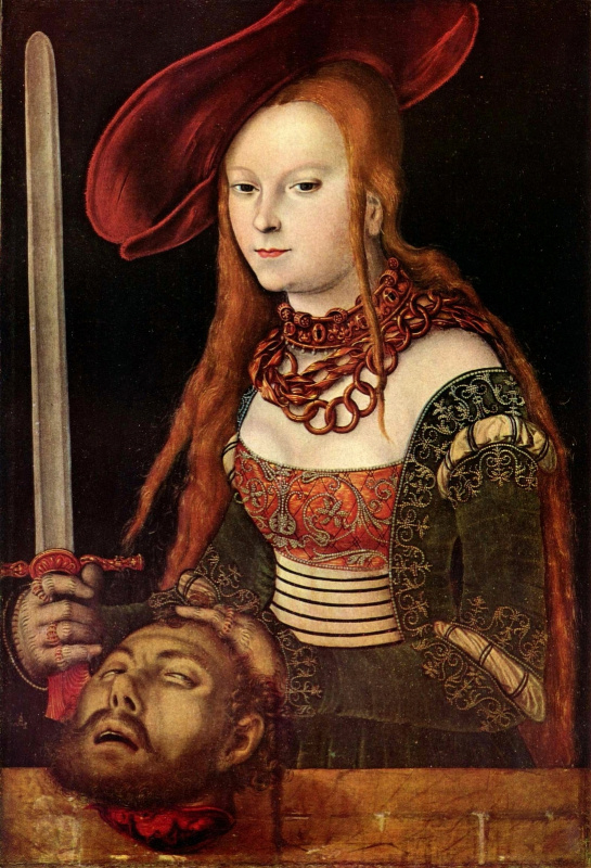 Lucas Cranach the Elder. Judith with the head of Holofernes