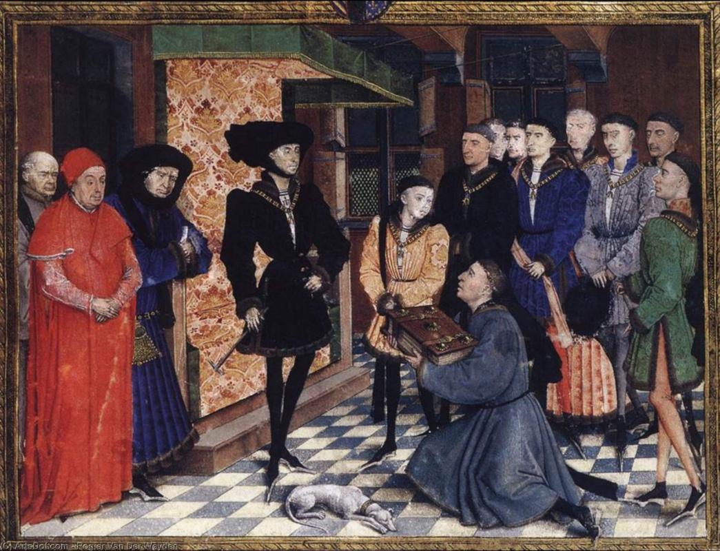 Рогир ван дер Вейден. Миниатюра с первой страницы книги Хроники де Эно