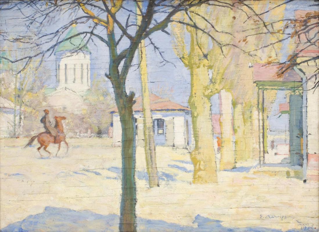 Evgeniy Evgenievich Lansere. Square in Dagestan