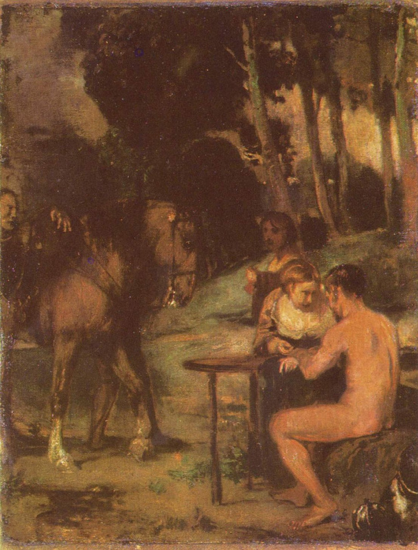 Ханс фон Маре. Вечерняя сцена в лесу