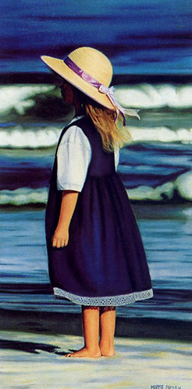 Мариз Пру. Девочка в синем платье