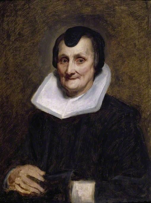 Anthony van Dyck. Portrait of an elderly lady