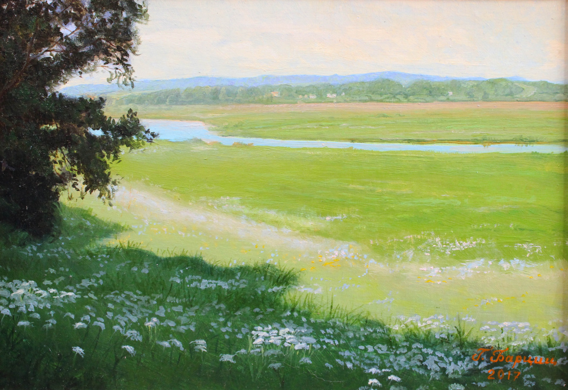 Gennady Shotovich Bartsits. Sorot River, village Mikhailovsky