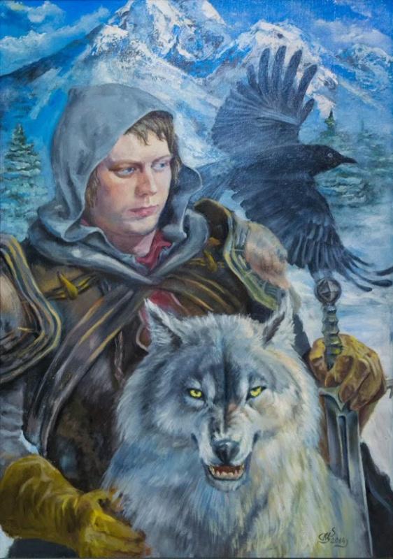 Sergey Petrovich Makeev. Romantic portrait of son