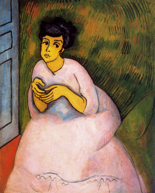 Raoul Dufy. The lady in pink
