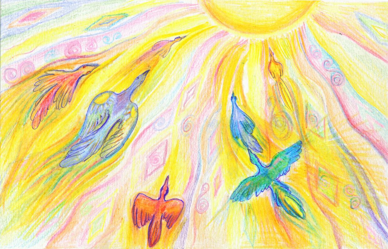 Lyudmila Ivanovna Berlyakova. Birds of the sun
